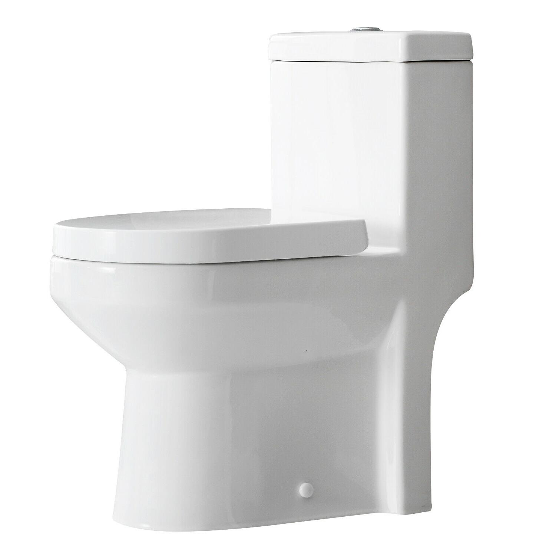 HOROW One Piece Toilet NIB Compact Bathroom Mini Dual Flush