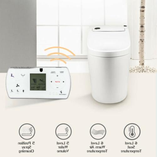 One-Piece Dual Flush Toilet with Integrated Bidet and Toilet