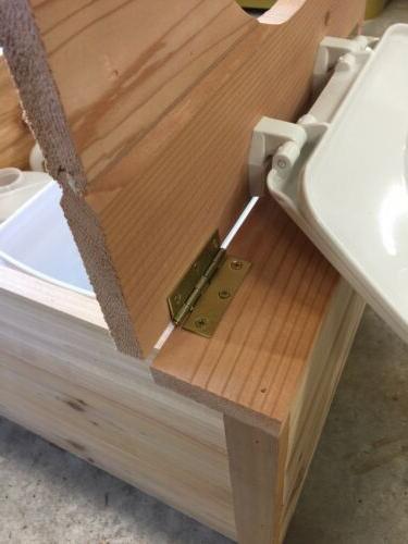 Sawdust Composting Toilet Urine Diverter - Cedar Tongue Groove