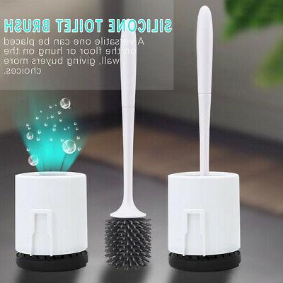 Silicone Toilet Bathroom Brush Holder Included Set