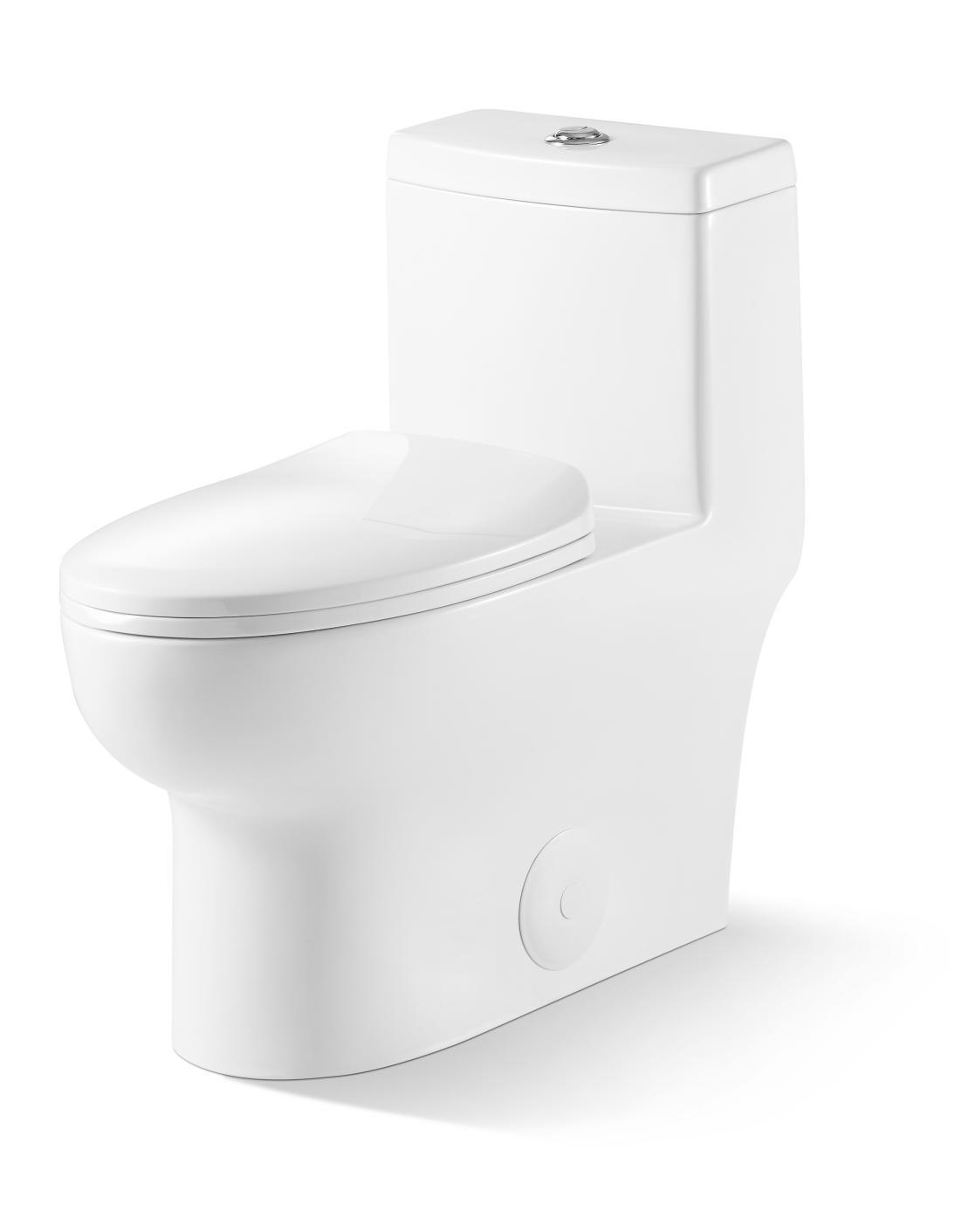 soft close one piece modern white ceramic