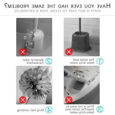 Toilet Holder Set Soft Bristle Kit