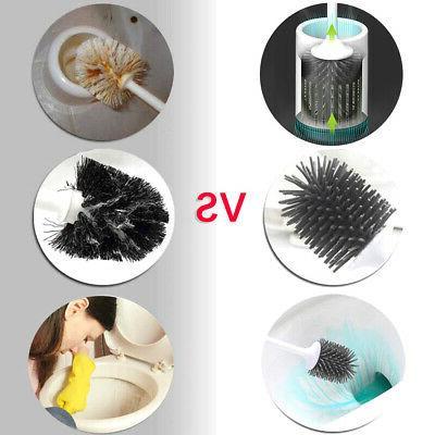 Toilet Bowl Set Brushes Cleaner Bristle Kit