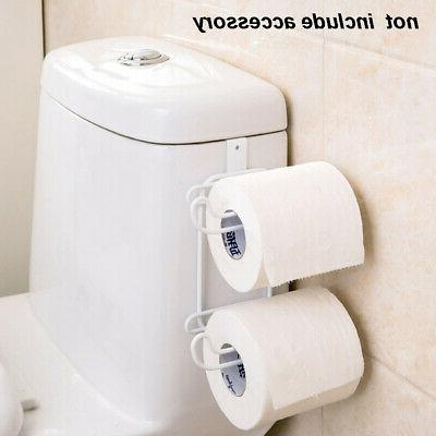 Roll Holder Paper Rack Double Wall Mounted Tank Hanging Toil