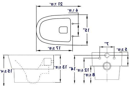 EAGO Wall Mount Toilet