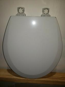 BEMIS Lift-Off Round Closed Front Toilet Seat in Ice Gray
