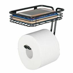 mDesign Metal Wall Mount Toilet Tissue Paper Roll Holder and