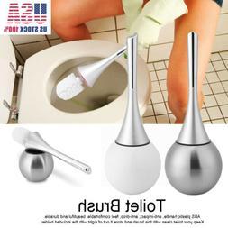 Modern Bathroom Toilet Brush & Holder Set Stainless Steel Bo