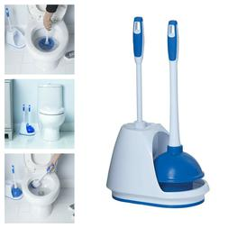 Mr. Clean Toilet Plunger & Toilet Bowl Brush Caddy Set with