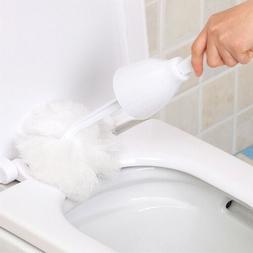 Multifunctional Soft Swab Toilet Brush Mop Holder Set Scratc