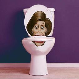 Nancy Pelosi Vinyl Toilet Lid Decal / Sticker set by BowlFac