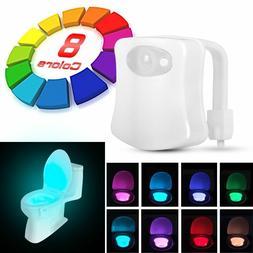 NEWs 8-Color LED Motion Sensing Automatic Toilet Bowl Night