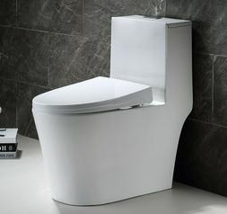 Hometure One Piece Toilet Dual Flush Comfort height Soft Clo