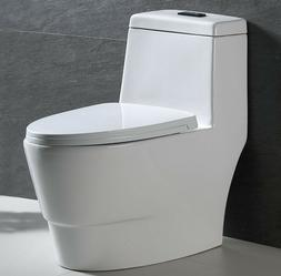 One Piece Toilet Dual Flush Elongated bowl Comfort height So