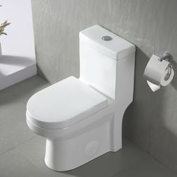 DeerValley Ceramic One Piece Dual Flush Small Toilet with So