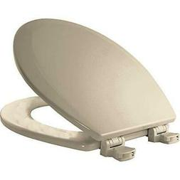 Round Molded Wood Toilet Seat with Easy Clean and Change - F
