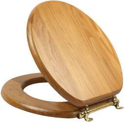 Round Toilet Seat in Honey Oak Finish