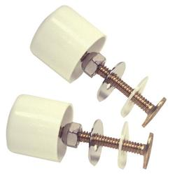 Danco  Toilet Bolts and Caps  White  Brass
