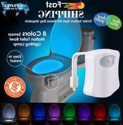 Toilet Night Light Led Bidet Seat Bathroom Motion Activated