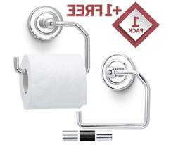 Toilet paper holder Wall mounted base Open arm Chrome brushe