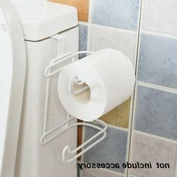 Toilet Rack Tank Wall Mounted Double Paper Hanging Roll Hold