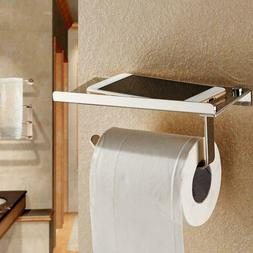 Toilet Roll Paper Holder with Phone Storage Shelf Holders Wa