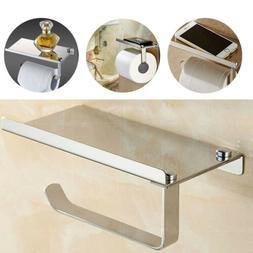 UNHO Toilet Paper Holder Chrome Stainless Steel Bathroom Tis