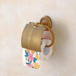 Home Copper Toilet Paper Holder Wall Mounted Hanger Bathroom
