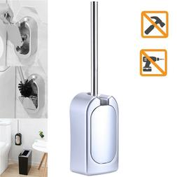 Wall-Mounted Toilet Brush Set Vented Stainless Steel Bathroo