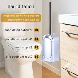 Wall-mounted Toilet Brush Suit With Holder Compact WC Bathro