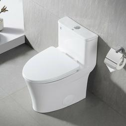 DeerValley White Ceramic Modern One Piece Elongated Toilet 1