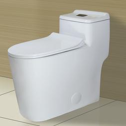 WinZo WZ5080 Modern Dual Flush One Piece Toilet Low Profile